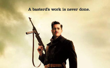 Brad Pitt Featured On New 'Inglorious Basterds' Poster