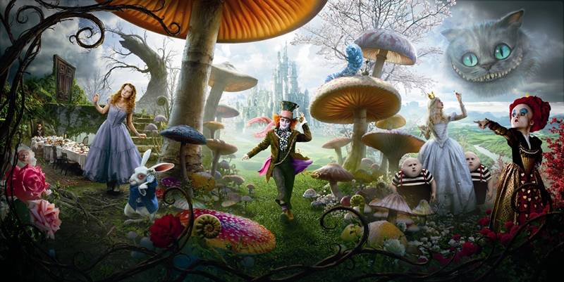 'Alice In Wonderland' Character Posters Combine To Reveal Landscape!