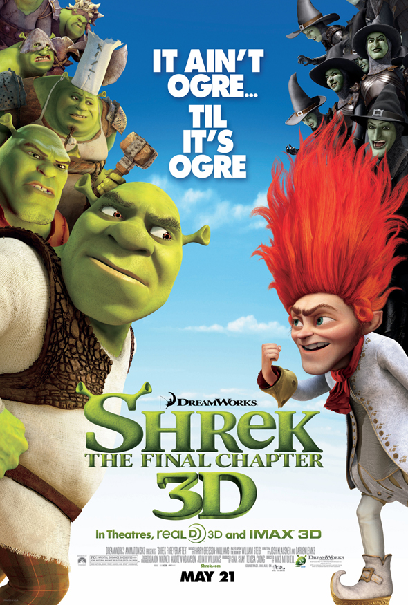 New Theatrical Poster For 'Shrek Forever After' Revealed