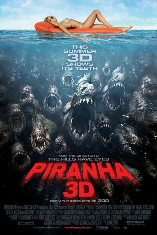 New Theatrical Poster For Alexandre Aja's 'Piranha 3D' Surfaces
