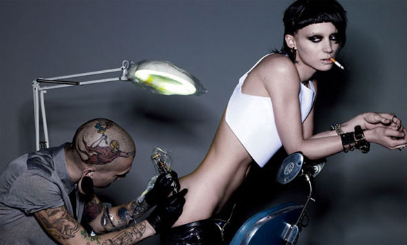 First Glimpse of Rooney Mara As 'The Girl with the Dragon Tattoo'