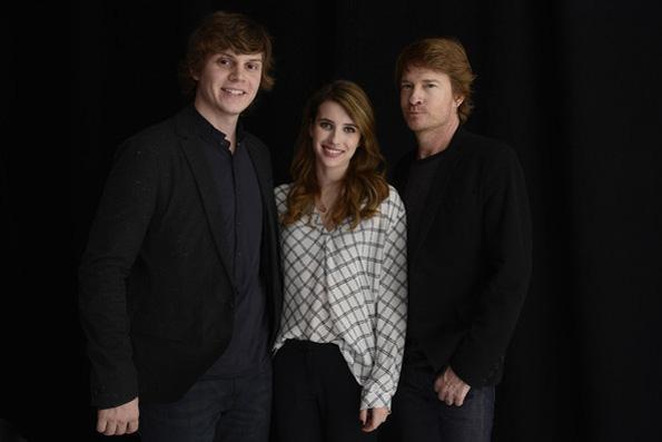 Evan Peters, Emma Roberts and Scott Coffey