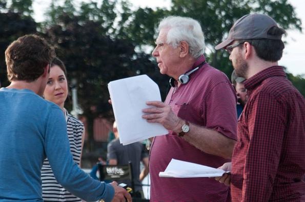 Director Alan Hruska on the set of 'The Man On Her Mind.'