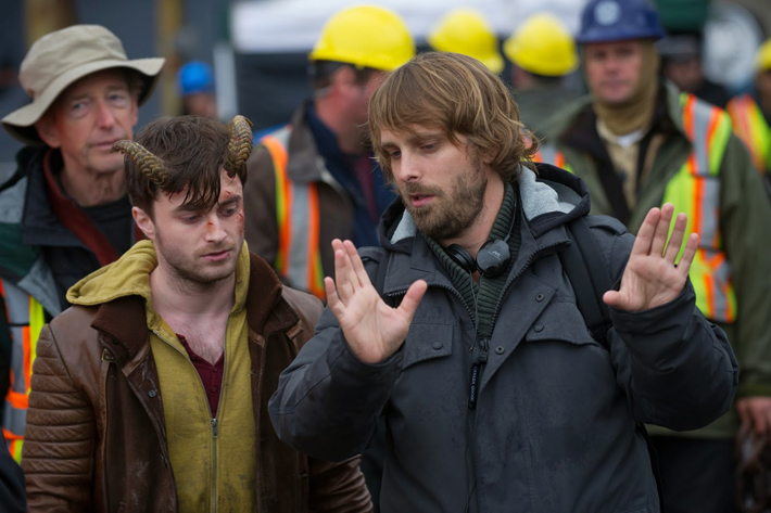 Daniel Radcliffe and Alexandre Aja on the set of 'Horns.'