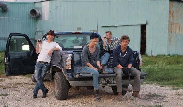 The cast of 'Bad Turn Worse' on location.