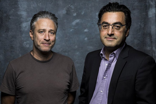 Jon Stewart and Maziar Bahari