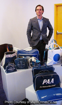 Phillip P. Keene and his Pan Am collection.