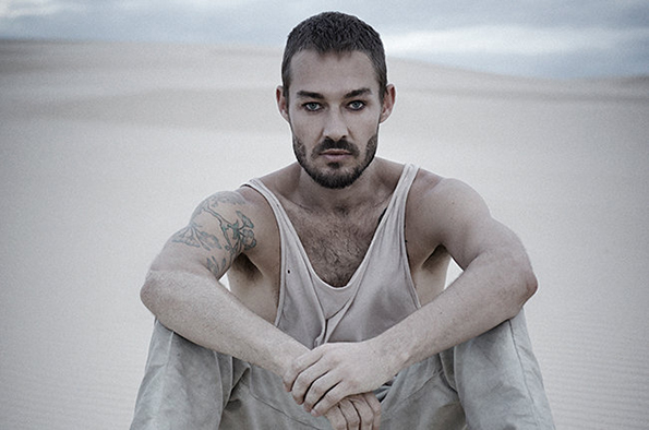 Daniel Johns from the set of his video for 'Aerial Love'