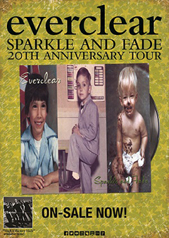 Admat for Everclear Sparkle And Fade 20th Anniversary Tour