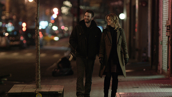 Chris Evans and Alice Eve in 'Before We Go'