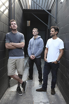 Tim Commerford, Mathias Wakrat and Laurent Grangeon