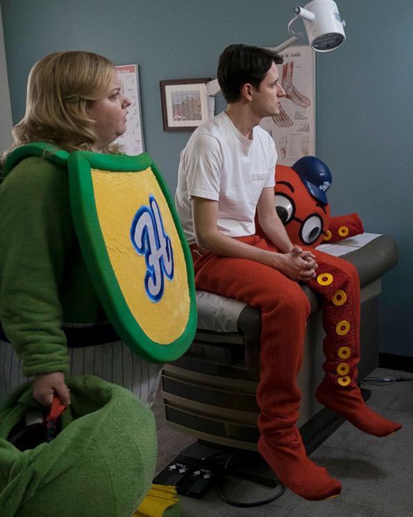 Sarah Baker and Zach Ward in 'Mascots'