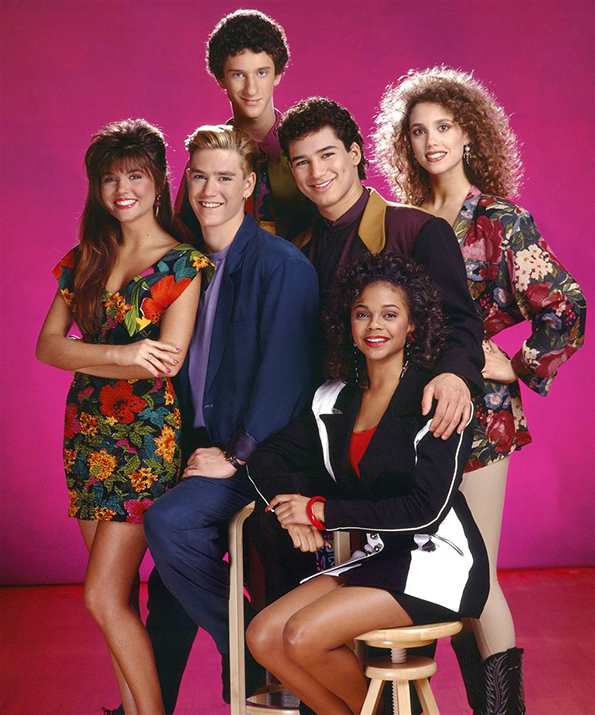 The cast of 'Saved By The Bell'