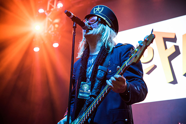 Chip Z'nuff on stage at the M3 Festival - Photo by Dave Steckart